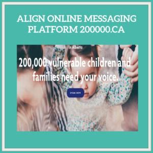 mother holding toddlers hands promoting align online messaging platform 200000.ca