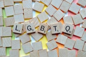 Scrabble blocks spelling LGBTQ
