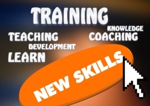 Words Training, Teaching, Development, Learn, Knowledge, Coaching and New Skills