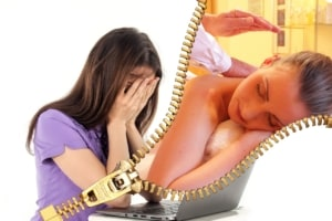 women stressed dreaming about massage