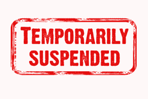 Words Temporily Suspended